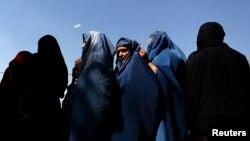 FILE - Afghan women in Kabul.