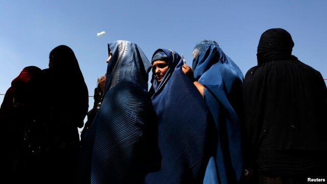 FILE - Afghan women in Kabul.