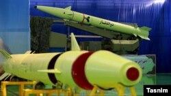 تصویری از موشکی که ایران برای حمله به داعش در سوریه استفاده کرد.