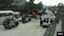 طورخم میں پاک افغان سرحدی گزرگاہ