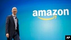 CEO Amazon Jeff Bezos dalam sebuah acara di Seattle, Washington (foto: dok).