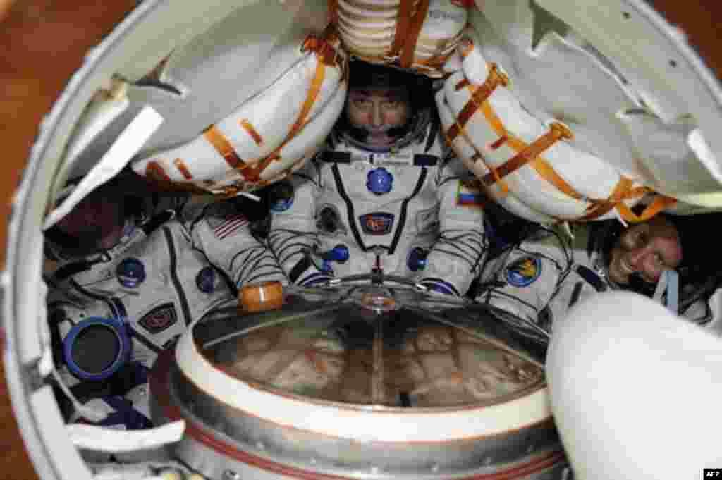 Внутри космического корабля «Союз»
