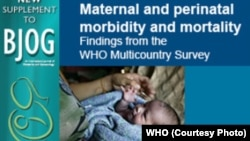 World Health Organization study on maternal deaths
