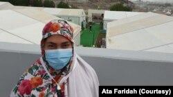 Ata Faridah di Padang Arafah. Faridah adalah salah satu dari 16 WNI yang terpilih beribadah haji tahun ini. (Foto: Ata Faridah)