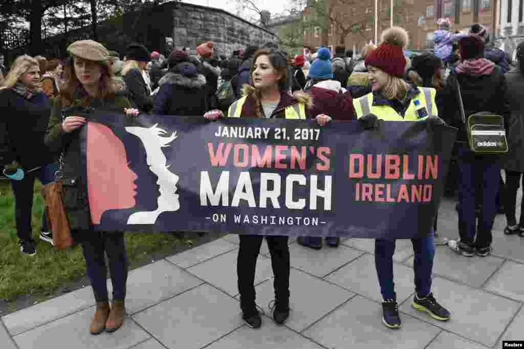 Марш женщин в Дублине, Ирландия