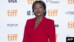 L'actrice nigériane Genevieve Nnaji assiste à la première de 'Farming' au Festival international du film de Toronto, à Toronto (Ontario), le 8 septembre 2018.