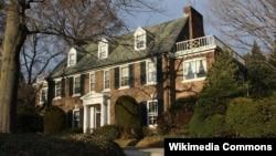 FILE - An undated photo shows Grace Kelly's family home in Philadelphia, Pennsylvania. (Photo by Shuvaev/WikiMedia)