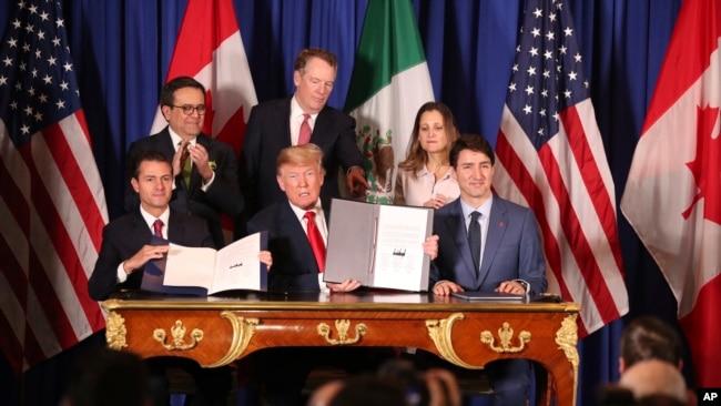 特朗普将终止北美自由贸易协定