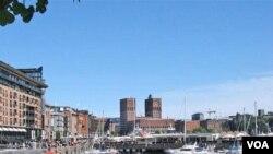 Ibukota Norwegia, Oslo. Norwegia menduduki peringkat pertama di dunia sebagai negara yang paling layak untuk tinggal.