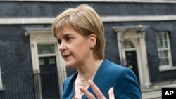 苏格兰首席部长斯特金(资料照片)