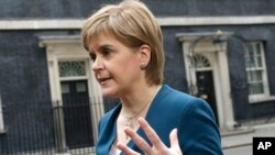 Menteri utama Skotlandia, Nicola Sturgeon (foto: dok).