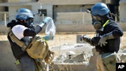 Progress Eliminating Syria's Chemical Weapons