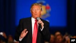 Le candidat républicain Donald Trump le 4 avril. (AP/Paul Sancya)