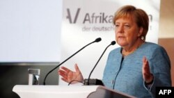 La Chancelière Angela Merkel lors du sommet Compact with Africa à Berlin, le 30 octobre 2018.