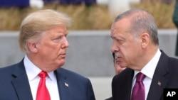 دیدار رجب طیب اردوغان و دونالد ترامپ در جریان اجلاس اخیر ناتو در بروکسل - آرشیو