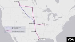 Predložena trasa naftovoda Keystone XL