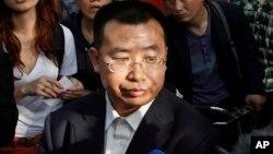 중국의 인권운동가 장톈융 변호사.