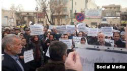 پیشتر بازنشتگان چندین تجمع اعتراضی برگزار کرده بودند. عکس آرشیوی است