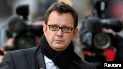 Former News of the World editor Andy Coulson arrives at Old Bailey courthouse in central London, England, Dec. 18, 2013.