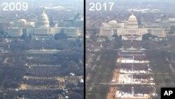 2009 اور 2017 میں صدر کی حلف برداری کے موقع پر لی گئی تصاویر کا جائزہ-ایسوسی ایٹڈ پریس