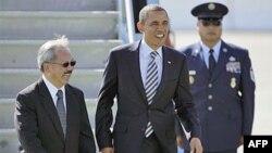 Обама прибыл в Сан-Франциско, где продолжает свое турне по западным штатам. 25 октября 2011г.