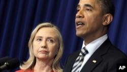 ປະທານາທິບໍດີ Barack Obama ປະກາດຂ່າວ ຈະສົ່ງລັດຖະມົນຕີຕ່າງປະເທດ Hillary Clinton ໄປຍັງມຽນມາ, ຢູ່ເກາະບາຫລີ, ວັນທີ 18 ພະຈິກ 2011.