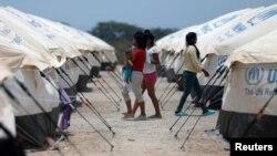 Venesuelalı migrant qadınlar Kolumbiyada BMT-nin qaçqın agentliyinin düşərgəsində. 7 may, 2019.