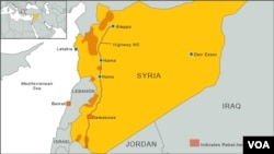 Rebel-held zones in Syria.