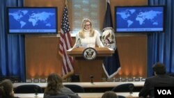 Marie Harf US State Department deputy spokeswoman.