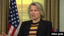 美國國務院亞太事務首席副助理國務卿董雲裳(Susan Thornton)(視頻截圖)