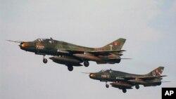 Pesawat tempur jenis SU-22 buatan Rusia yang hilang di lepas pantai selatan Vietnam.