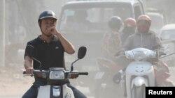 Hình ảnh ô nhiễm không khí ở Hà Nội.
