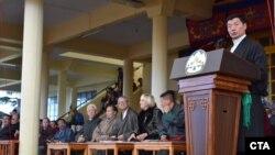 2015年3月10日西藏司政洛桑森格博士在印度达兰萨拉