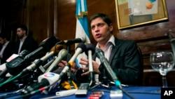El ministro de Economía argentino, Axel Kicillof, en Nueva York tras el fracaso en las negociaciones.