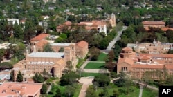 An aerial view of the University of California at Los Angeles. (Courtesy UCLA)