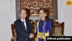 ဂ်ပန္-၀န္ႀကီးခ်ဳပ္ အထူးအႀကံေပးနဲ ႔ ေဒၚေအာင္ဆန္းစုၾကည္ ေတြ႔ဆံု (Myanmar State Counsellor Office)