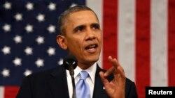 바락 오바마 미국 대통령이 28일 연방의회에서 신년 국정연설을 했다.