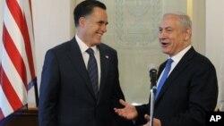 Митт Ромни и премьер-министр Израиля Биньямин Нетаньяху