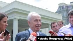 Израильский президент Шимон Перес в Белом доме