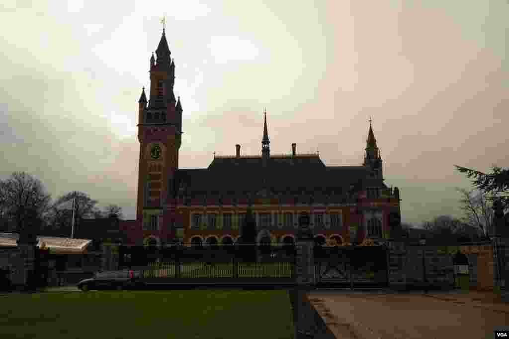 The International Court of Justice ,The Hague, Netherlands.