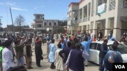 Vụ tấn công trụ sở tòa án ở thị trấn Charsadda, Pakistan, ngày 21/02/2017.