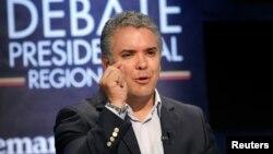 El candidato presidencial de Colombia Ivan Duque es favorito para ganar la elección del domingo próximo.