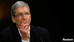 Apple CEO Tim Cook, who has been fighting the government's requests to access information stored on encrypted iPhones, is seen in a May 2013 photo.