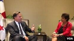 Entrevista de la VOA con el presidente de Panamá, Juan Carlos Varela Rodríguez