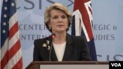 Bộ trưởng Ngoại giao Julie Bishop. Bé Kate Úc đã được trở về Úc sau khi có sự can thiệp của Bộ Ngoại giao nước này.