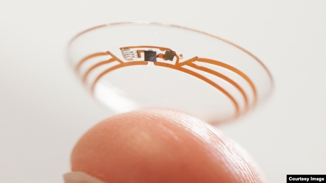 "Google is developing a ""smart"" contact lens that could help people to track their glucose levels. (Google X)"
