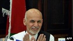 阿富汗总统候选人候选人阿什拉夫•加尼在7月5日的记者会上