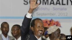 Rais mpya wa Somalia Hassan Sheikh Mohamud, aliyechaguliwa Sept. 10, 2012