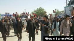 پس از توقیف نظام الدین قیصاری شماری از حامیان او برای سه روز پیهم مظاهرات را در فاریاب راه اندازی کردند