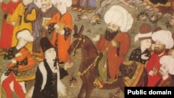 Rumi meeting Shams-i Tabrizi for the First Time [Persian Manuscript]